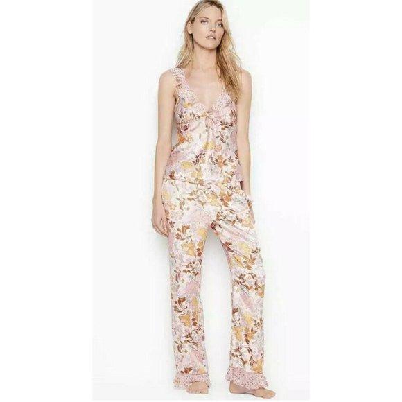 Victoria's Secret Floral Sleep Cami Tank Pants Set